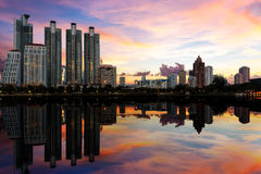 Cityscape with Reflection Royalty Free Stock Image