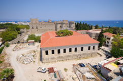 Cityscape of Rhodes town, Greece. Cityscape of Rhodes town - greece stock images