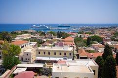 Cityscape of Rhodes town, Greece Stock Photo