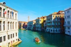 Cityscape from Rialto bridge, in Venice, Italy, Europe Royalty Free Stock Photography