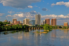 Cityscape of Richmond, Virginia. Cityscape of Richmond, Virginia architecture over the James River Royalty Free Stock Photography
