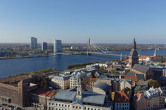Cityscape of Riga, Latvia Stock Images