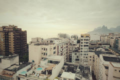 Cityscape, Rio de Janeiro on an overcast afternoon Royalty Free Stock Photo