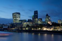 Cityscape of the River Thames, London Stock Photos