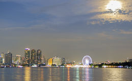 Cityscape river view. Royalty Free Stock Photography