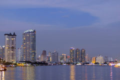Cityscape river view. Royalty Free Stock Images