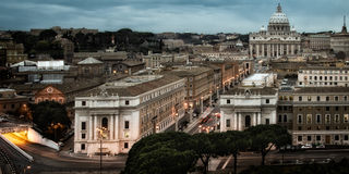 Cityscape in Rome Royalty-vrije Stock Fotografie