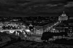 Cityscape in Rome Royalty Free Stock Photos