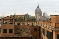 Cityscape of Rome in daylight Royalty Free Stock Photo