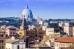 Cityscape of Rome Royalty Free Stock Image