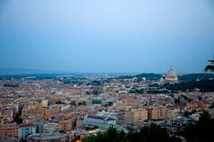 Cityscape of Rome in Italy Stock Photos