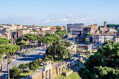 Cityscape of Rome, Italy Royalty Free Stock Photography