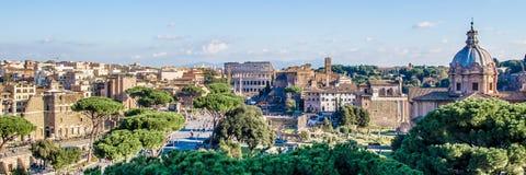 Cityscape of Rome, Italy Royalty Free Stock Photos