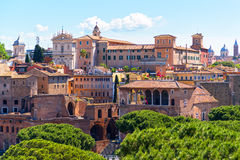 Cityscape of Rome, Italy Stock Photography