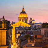 Cityscape of Rome, Italy in sunset. Stock Images