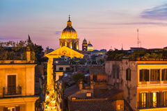 Cityscape of Rome, Italy in sunset. Stock Photography