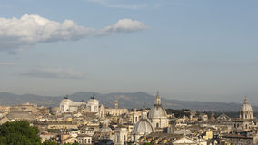 Cityscape of rome with monuments and domes Royalty Free Stock Photos