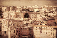 Cityscape of the Rome. Retro style Royalty Free Stock Photography