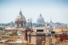 Cityscape of Rome with Vatican Dome, Italy Stock Photography