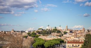 Timelapse of the city of Rome, in Italy. stock video
