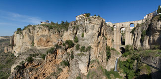 Cityscape of Ronda with Puente Nuevo Stock Photos