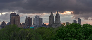 Cityscape from the roof of the met Stock Photography
