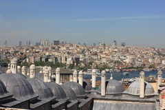 Istanbul, Turkey panorama with the roofs stock photography