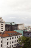 Cityscape rooftop view  office buildings apartments condos busin Royalty Free Stock Photography