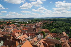 Cityscape from rothenburg town hall tower Stock Images