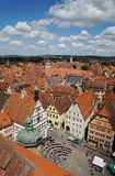 Cityscape from rothenburg town hall tower Royalty Free Stock Image