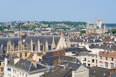 Cityscape of Rouen in a summer day Stock Image