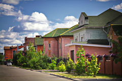 Cityscape Russia cotages houses in  town Stock Photography