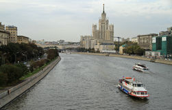 Cityscape of russian capital Moscow Stock Photos