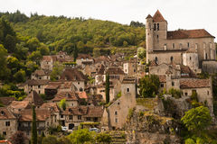 Cityscape of Saint-Cirq-Lapopie France Stock Photo