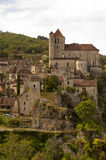 Cityscape of Saint-Cirq-Lapopie France Royalty Free Stock Images