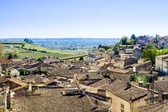 Cityscape of Saint-Emilion near Bordeaux, France Stock Photos
