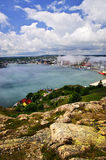 Cityscape of Saint John's from Signal Hill. In Newfoundland Canada Stock Photography