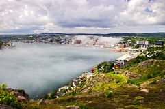 Cityscape of Saint John's from Signal Hill Stock Photography