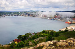 Cityscape of Saint John's from Signal Hill Stock Photos