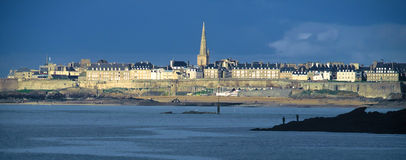 Cityscape of Saint Malo with stormy sky Stock Photo