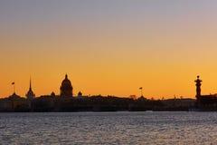 Cityscape of Saint-Petersburg, Russia on sunset Stock Image