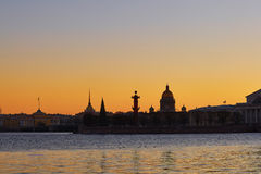 Cityscape of Saint-Petersburg, Russia on sunset Royalty Free Stock Photography