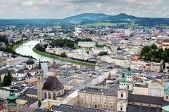 cityscape salzburg Royaltyfri Fotografi