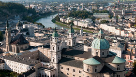Cityscape of Salzburg Austria royalty free stock photography