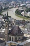 Cityscape of Salzburg, Austria Stock Photos