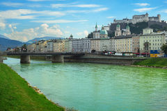 Cityscape of Salzburg Royalty Free Stock Images