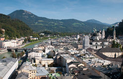 Cityscape of Salzburgh, Austria Royalty Free Stock Images