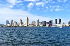Cityscape of San Diego Coastline stock images