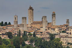 Cityscape of San Gimignano Stock Images