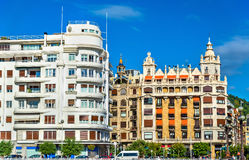 Cityscape of San Sebastian or Donostia - Spain Stock Image